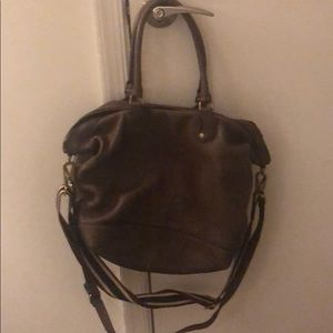 Madewell chocolate brown leather tote